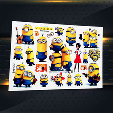 Funny Little Minions Temporary Tattoo Stickers Cartoon Flash Tattoo Kids Body Art Arm, Despicable Me Waterproof Fake Tatoos