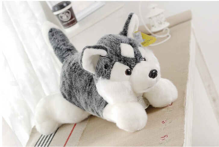 big lovely Husky dogs high quality husky lying dog toys gray cute dog toy birthday gift about 80cm new electronic wristband patrol dogs kids paw toys patrulla canina toys puppy patrol dogs projection plastic wrist watch toys