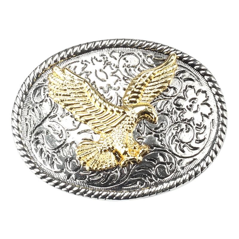 Decorative Pattern Plate Golden Eagle Belt Buckle Suitable For 3.8cm Width Of The Belt