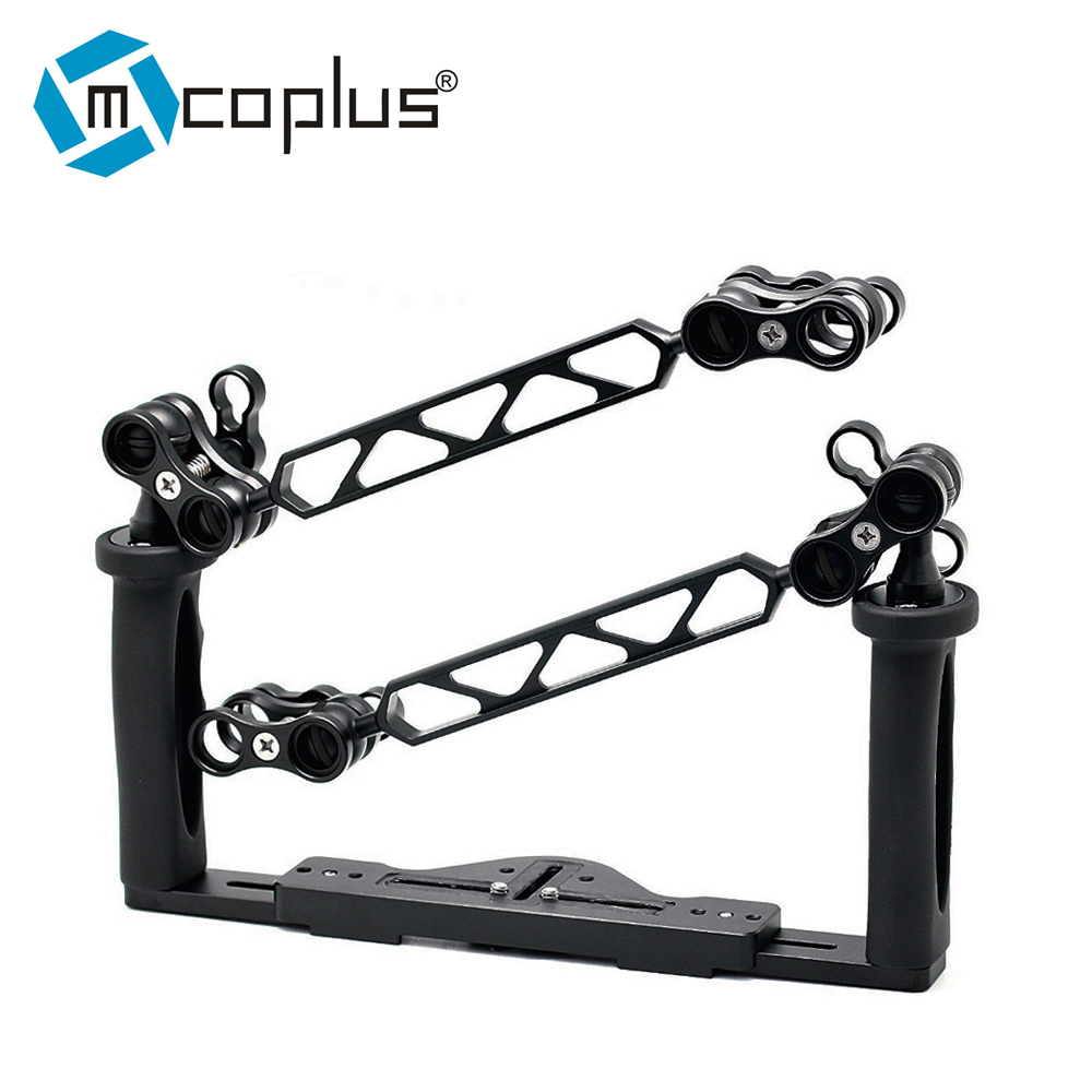 Mcoplus Underwater Tray Housings Arm kit for Gopro Action Camera Camera Waterproof Housing Video Dive Torch Flashlight nereus 10 meter waterproof housing kit for digital camera dc wp20