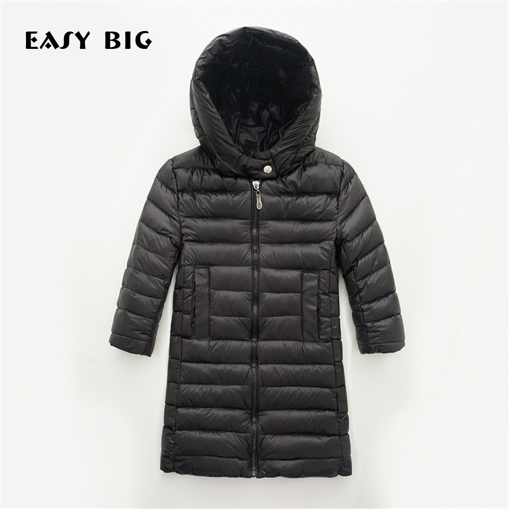 EASY BIG Winter Warm Hooded Children Down Jacket For Girls Unisex Children Parkas Jacket For Boys CC0144EASY BIG Winter Warm Hooded Children Down Jacket For Girls Unisex Children Parkas Jacket For Boys CC0144