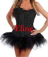 4 Colors Sexy lingerie Lace Up corset mini skirt black Fancy Dress S XL am2163