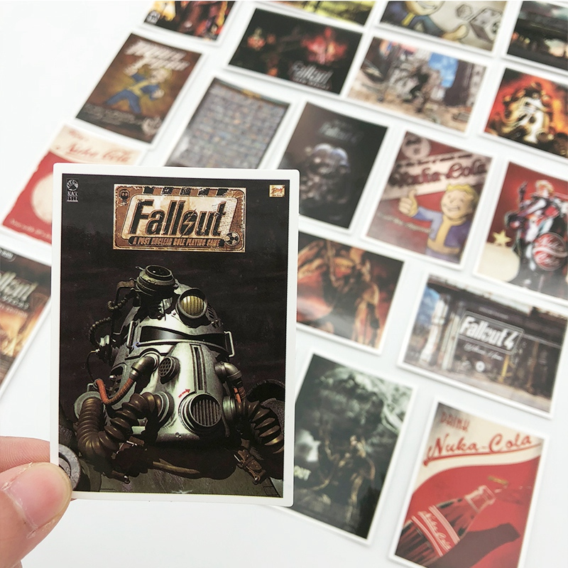 25pcs fallout 3 4 game poster Sticker Graffiti Stickers for Laptop Luggage Waterproof DIY toy Sticker image