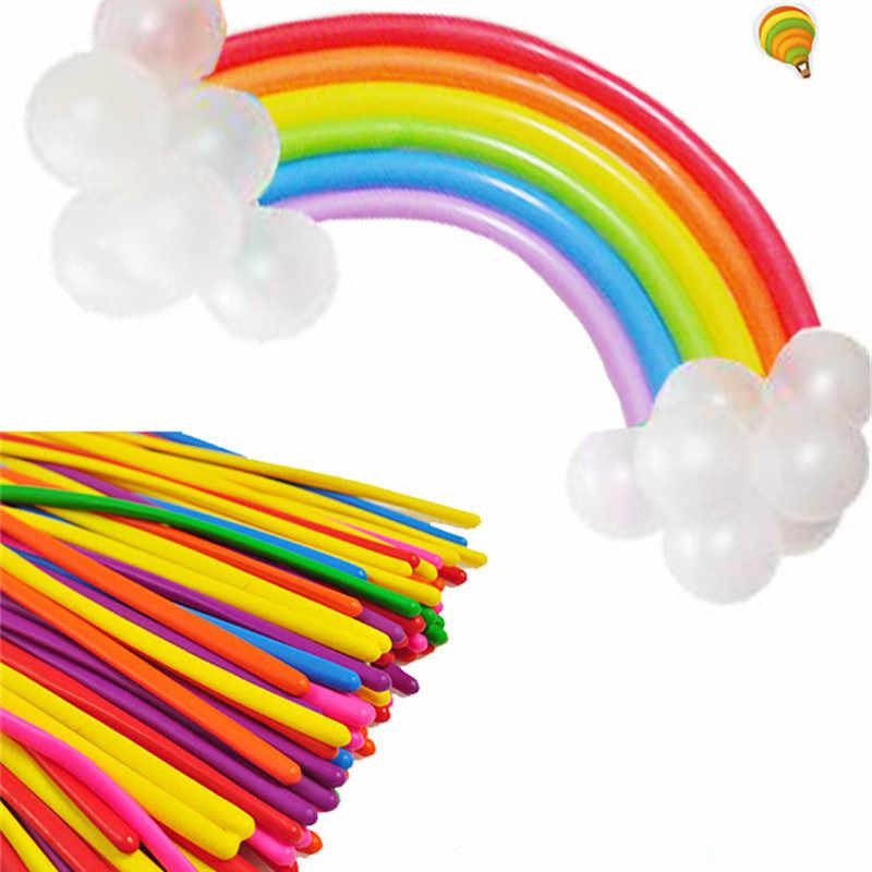 5 Pcs 260Q Lange Magic Latex Ballon Wit Zwart Float Air Ballen Opblaasbare Bruiloft Verjaardag Party Ballen Decoratie Lucht Speelgoed
