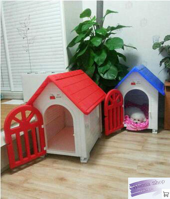 Ordinaire Indoor Outdoor Dog Cage Dog Kennel With Door Pet House Blue Grey Red  Plastic Dog House For Dog