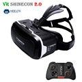 2017 Shinecon VR 2.0 3D Виртуальной Реальности Очки Гарнитура Картон глава Гора vr поле Шлем Для 4.7-6' Телефон + Mocute геймпад