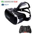 2017 Shinecon VR 2.0 3D Virtual Reality Glasses Headset Cardboard Head Mount vr box Helmet  For 4.7-6' Phone + Mocute Gamepad