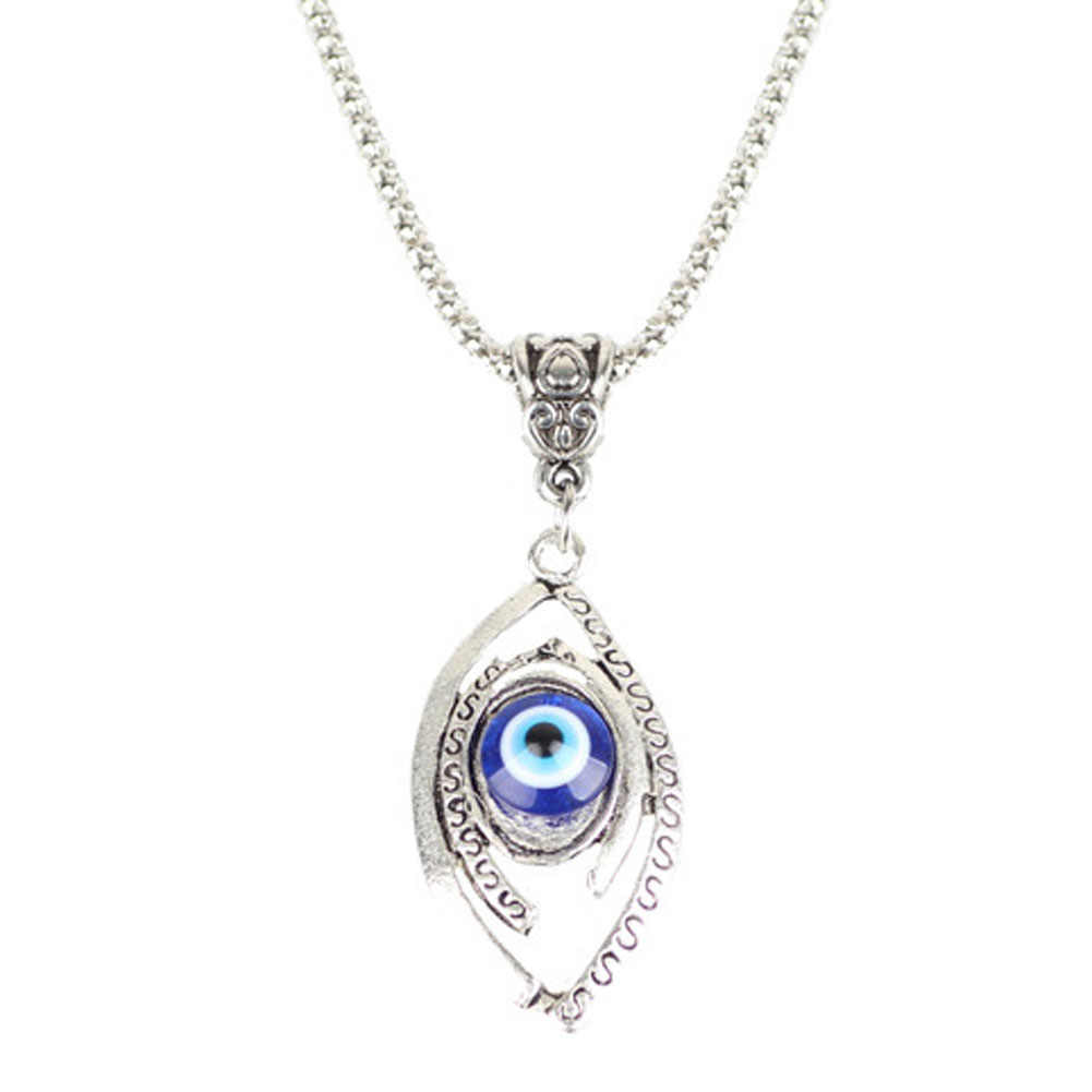 Fashion Jewelry Turkish Evil Eye Necklaces For Men Moon Necklace Pendant
