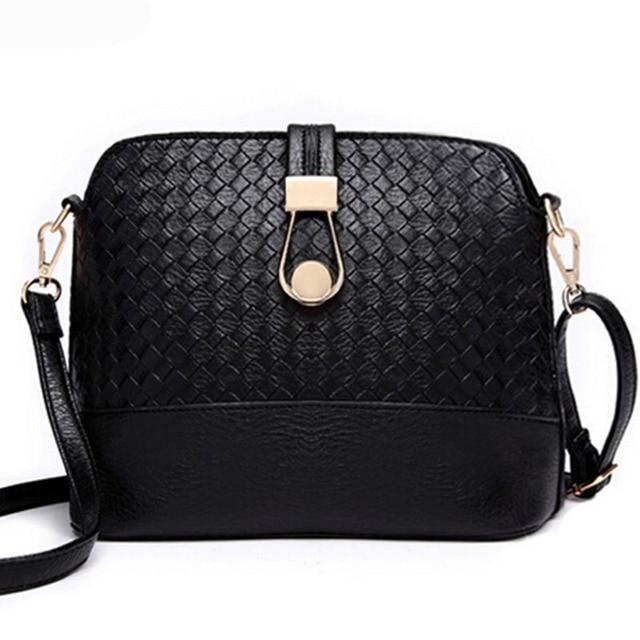 Knitting Women Messenger Bags Fashion Shell Female Bag Women Leather Bag  Cross-Body Women Bag Ladies Wallet Shoulder  F40-619