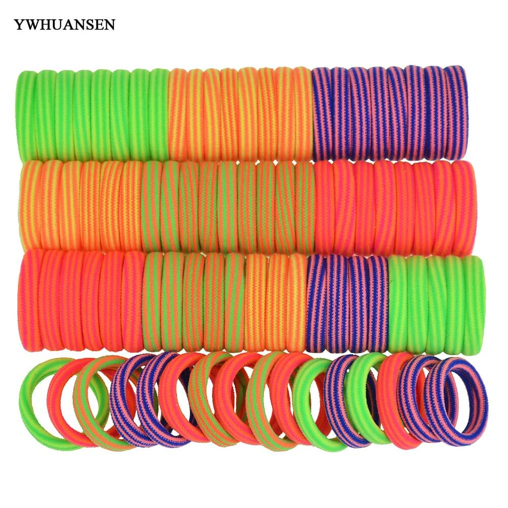 YWHUANSEN 40pcs/lot Hair accessories for girls women Scrunchy Hiar ties for children gum for hair Mix color elastic hair bands halloween party zombie skull skeleton hand bone claw hairpin punk hair clip for women girl hair accessories headwear 1 pcs