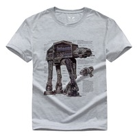 Star Wars Camisas hombres algodón o Masajeadores de cuello Tops hombre Tops camisa cheapt-shirt marca ropa hombres camiseta tops