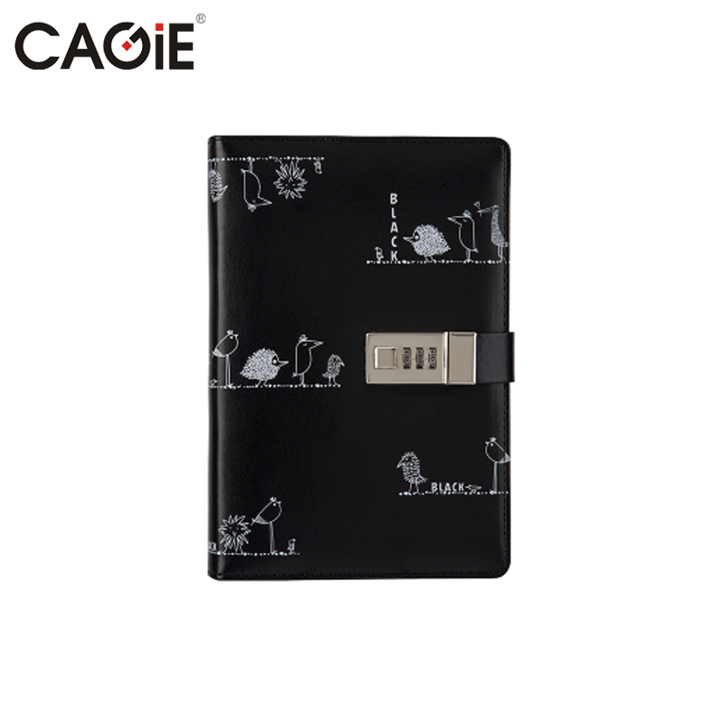 CAGIE Personal Diary with Lock Cute Notebooks and Journals a5 Vintage Leather Agenda Planner Organizer Daily Planner Notebook недорго, оригинальная цена