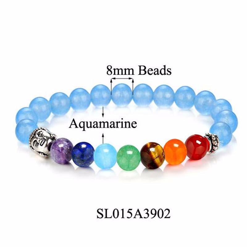 8 Colors 2018 7 Chakra Healing Balance Buddha Beads Bracelets Bangles Charm Natural Stone Bracelet Yoga Jewelry Men Women Gift 10