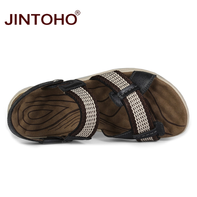 Qi sandali pelle moda di spiaggia estivi Se zong appartamenti per in dimensioni Se grandi sandalo scarpe ka maschili Jintoho uomo Hei d0RwdI