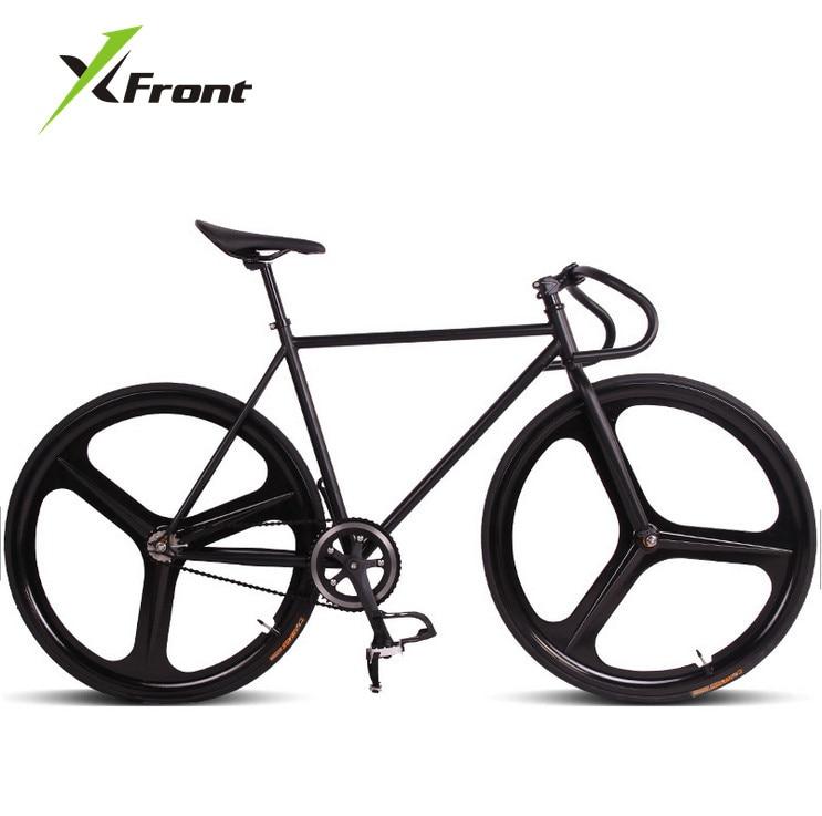 Original X-Front brand fixie Bicycle Fixed gear 46cm 52cm DIY Three cutter one wheel speed road bike fixie bicicleta