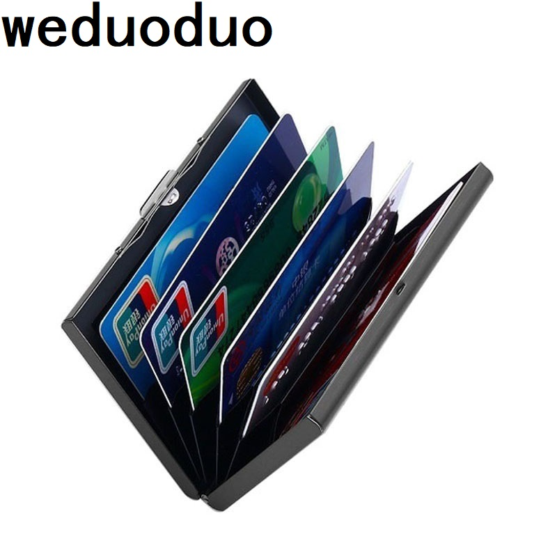 stainless steel waterproof metal card box card case business ID name credit card namecard holder high quality bank card holder xiniu men metal high qualitid credit card holder automatic card sets pocket stainless steel metal business card holder case wmew