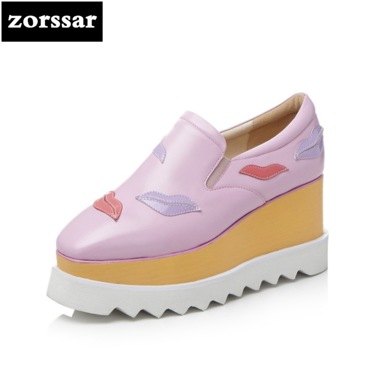 {Zorssar} Brand 2018 fashion Creepers shoes woman heels Casual Wedges High heels pumps shoes women Platform shoes spring zorssar brand 2018 new womens creepers shoes heels casual wedges high heels pumps shoes fashion suede women platform shoes