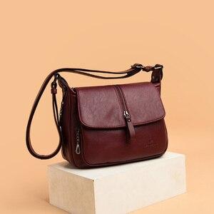 Image 3 - Women shoulder messenger bag sheepskin high quality casual shoulder bags solid zipper colors fashion handbag bag Bolsa Feminina
