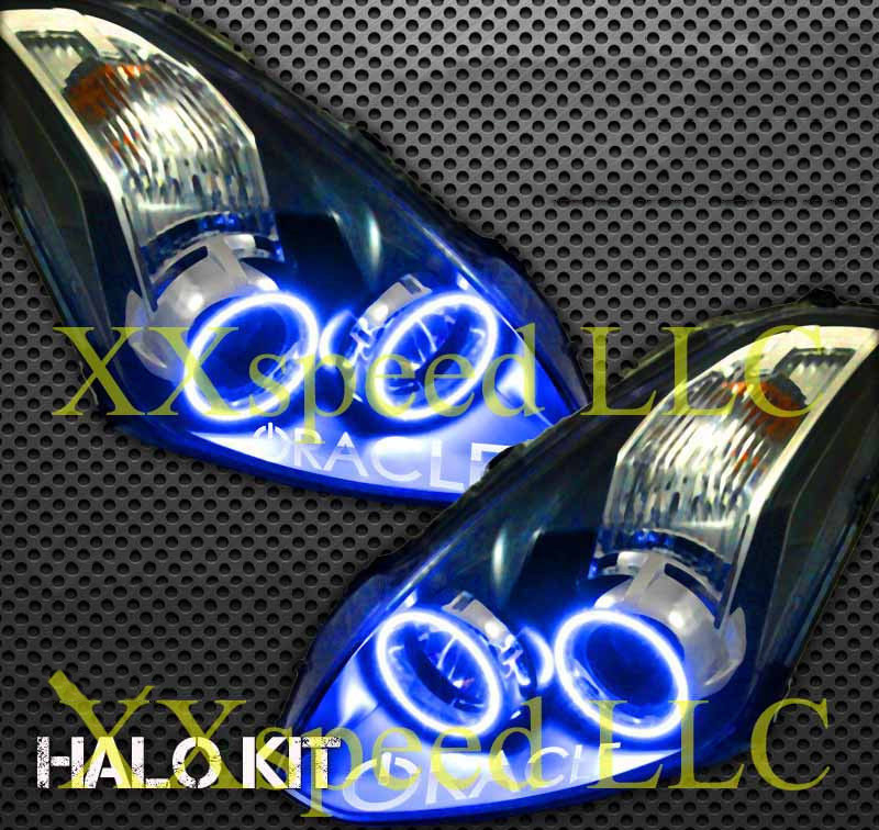 for nissan Altima coupe 2010 2011 LED perimeter headlight rings halo Multi-color RGB angel demon eyes for bmw z4 e85 2002 2008 led perimeter headlight rings halo multi color rgb angel demon eyes car styling