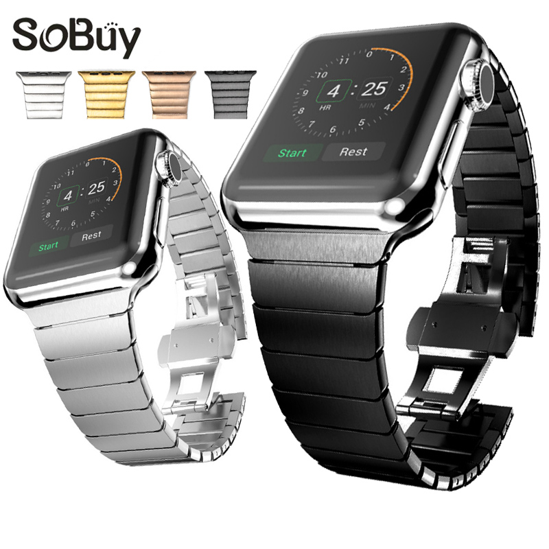 IDG High end Bracelet 316L Stainless Steel band for apple watch 42mm 38mm iwatch strap series 1/2/3 Business Men Ms metal band so buy wrist bracelet 316l stainless steel bands for apple watch 42mm 38mm iwatch strap series 1 2 3 sport milan nice metal band