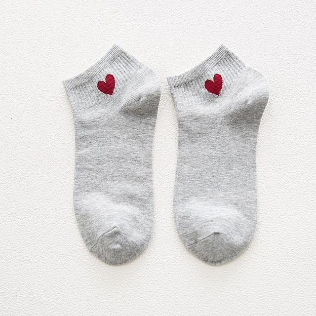 Summer Heart Printed Women's Cotton Socks