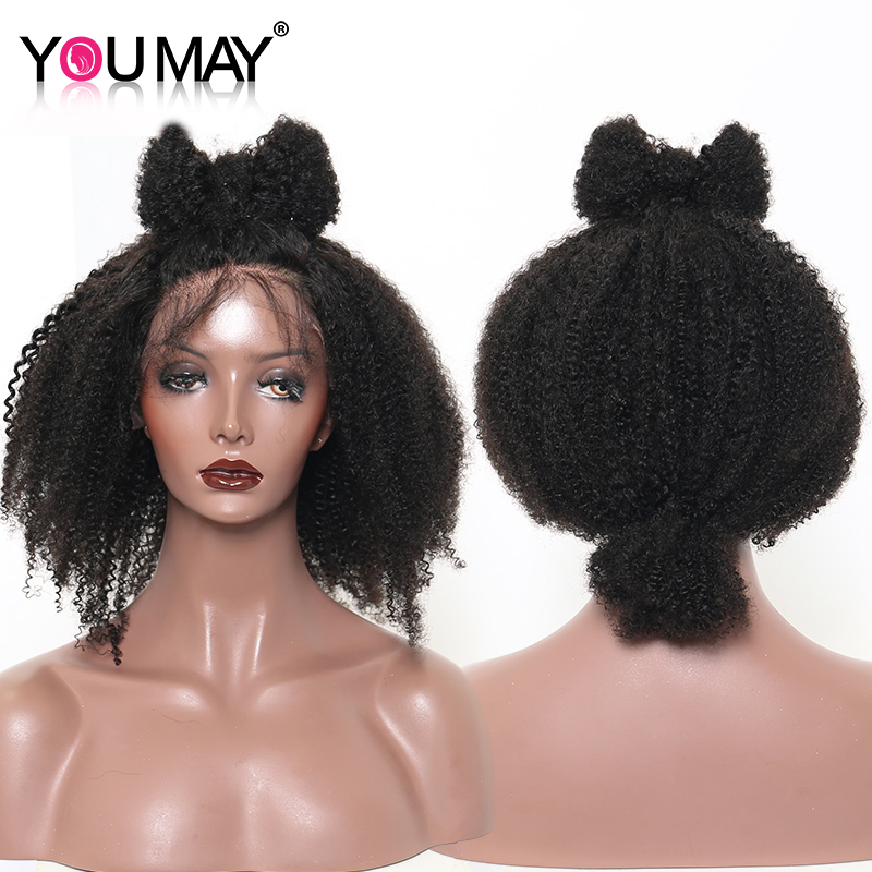 Afro Kinky Curly Wigs For Women 360 Lace Frontal Wigs Pre Plucked Baby Hair 180% Brazilian 13X6 Lace Front Wigs You May Remy