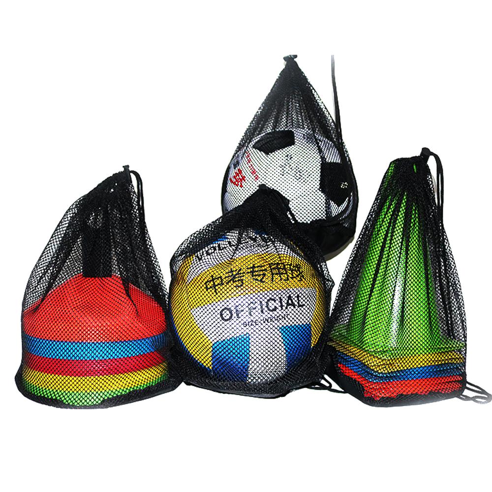 Nylon Net Basketball Bag Outdoor Sport Convenience Carry Mesh Soccer Ball Football Solid NET Bag