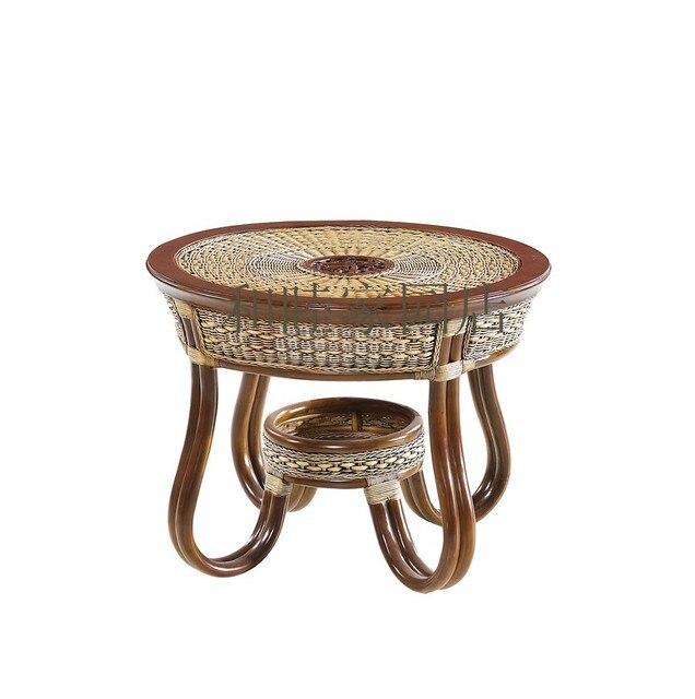 Rattan Cane Furniture Tea Table Small Coffee Wood Side Corner A Few Phone T