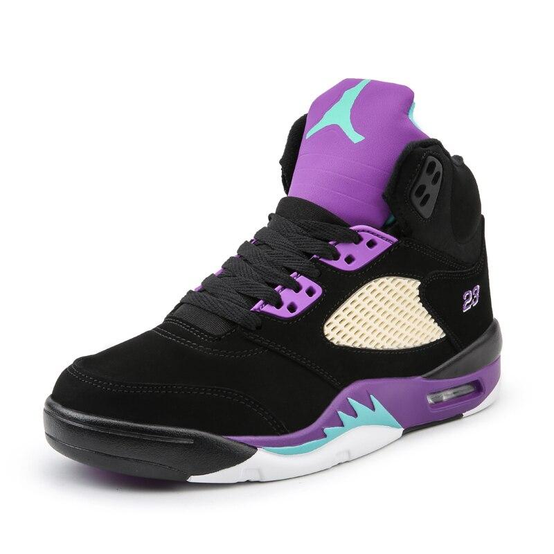 CROCODILE Chaussures de Basket-Ball Hommes Rétro Haute Top Air Coussin Adulte Jordan Sport Chaussures Hommes Confortable Respirant En Plein Air Sneakers