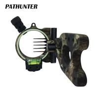 PATHUNTER Bow Sight 5 PIN 0.019''W/Light Fiber Optic LED Sight Aries Camo Bow Sight Archery Bow Accessories Free Shipping
