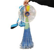 Cast nets 2.4M-4.2M with sinker USA Style Catch Fishing Net Small Mesh Fly Hand Throw Gill network hand net Automatic throwing