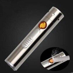Laser latarka zapalniczka na USB w Akcesoria do papierosów od Dom i ogród na