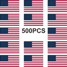 "500Pcs American Flag Stickers Patriotic Sticker Roll Of 2"" Width USA"