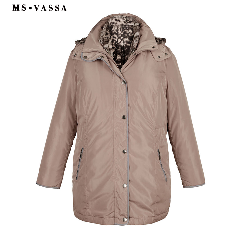 MS VASSA Winter Jacket Women Plus Size Jackets Womens Coats Long Down Parka Lady Hoodies ukraine Turn-down collar Parkas XL-11XL