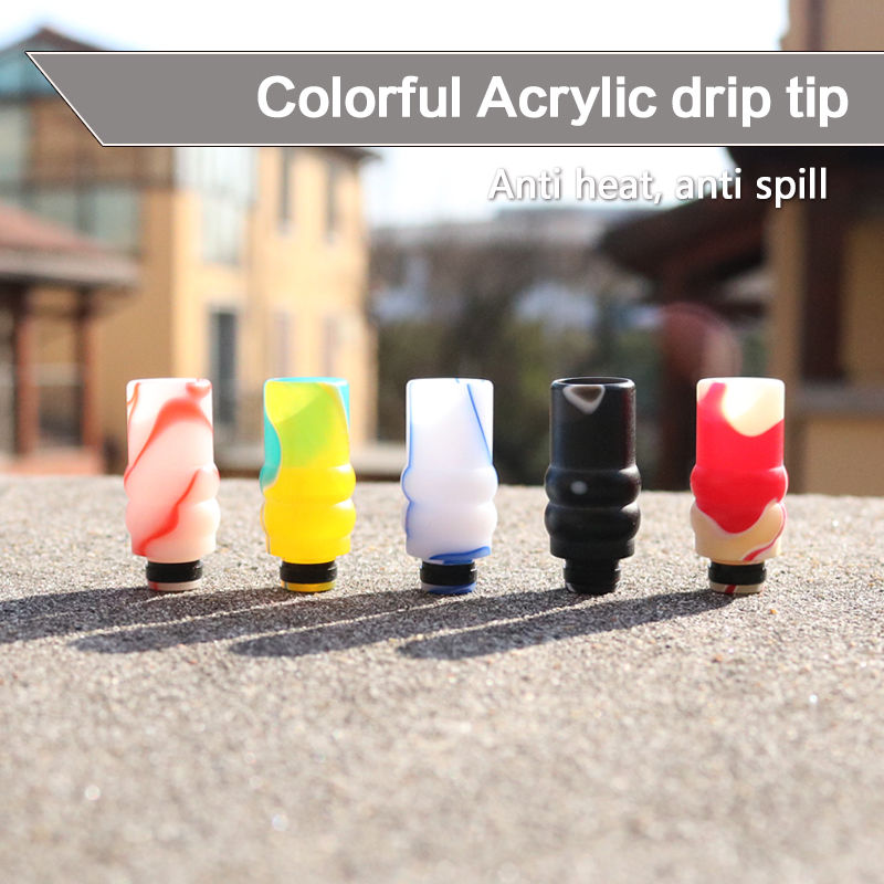 Acrylic 510 drip tip wide bore mouthpiece for Sub
