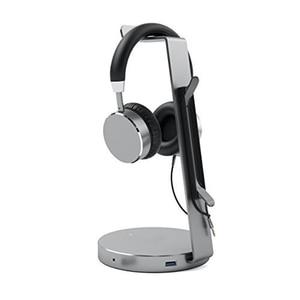 Image 3 - Hagibis suporte de fone de ouvido com 4 portas usb 3.0 hub, exibição de porta de áudio para suporte e cabo de fone de ouvido armazenamento de armazenamento