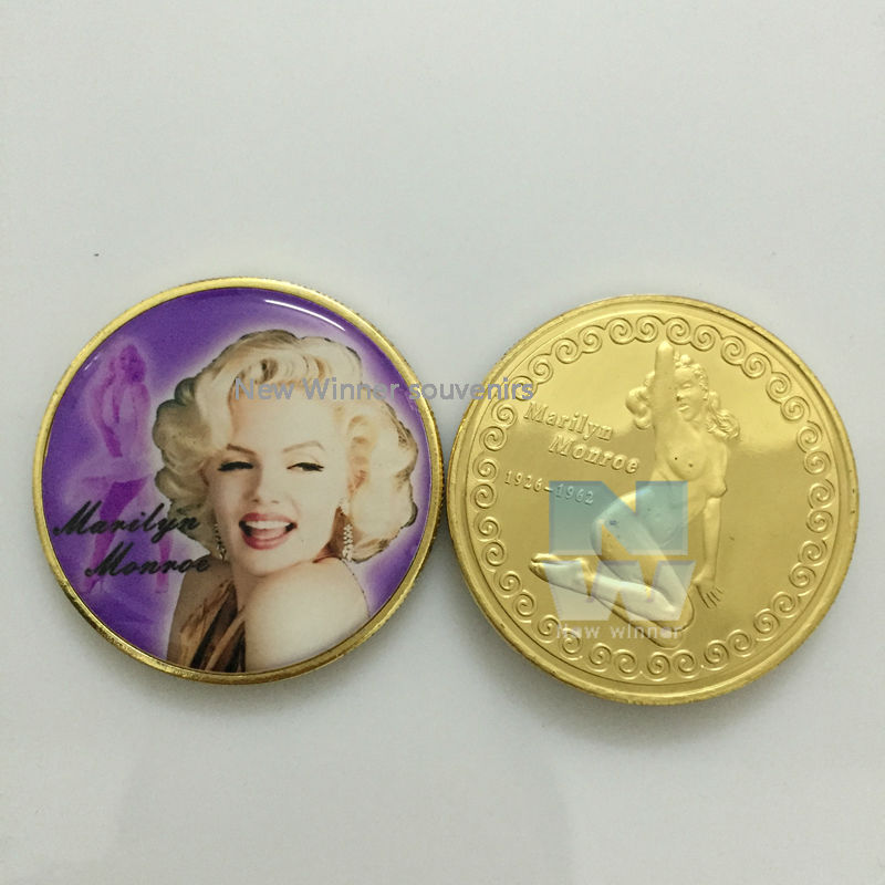 5pcs/lot Movie Star Marilyn Monroe coin NEW type Sex Russia Coins Souvenirs