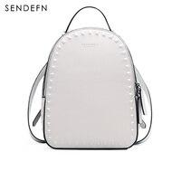 SENDEFN New Backpack Women Luxury Brand Backpack Female Split leather Should Bag For Girls School Bag Casual Daypacks 7128H 6
