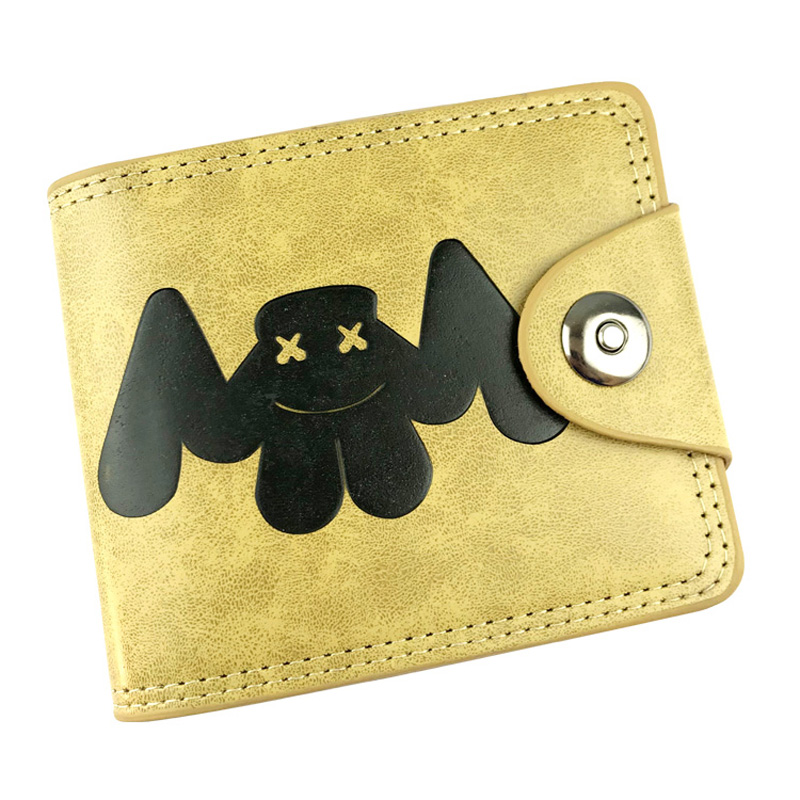 Hot New Anime Wallets Fashion Cartoon Marshmello Short Purse Creative Gift Card Money Holder Bags Gift Young Boy Girl Wallet kawaii cartoon anime totoro purse folded leather short wallets carteira gift kids teenager dollar price card holder wallet