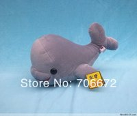 about 43cm gray whale plush toy doll t8877