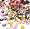 Promoción 2 mm 2.5 mm 3 mm 10000 unids mezcló los colores del Flatback Rhinestones de la resina de Strass DIY 3D Nail Art decoraciones perlas piedras