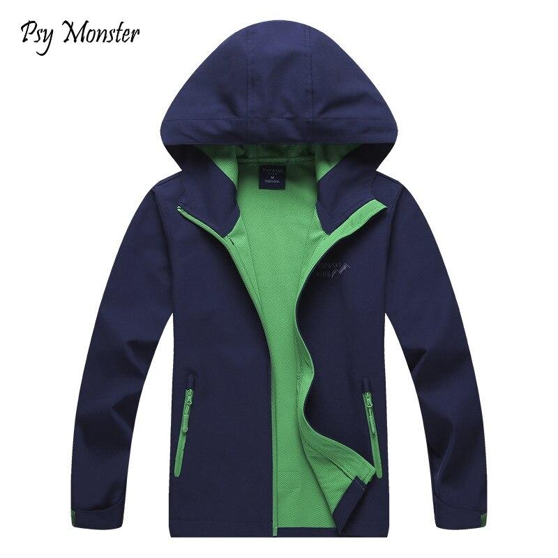 Girls Boys Long Sleeve Windbreaker Jacket Kids Zip Light Hooded Coat