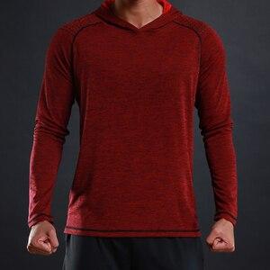 Image 5 - FLORATA NEW Trendy Autumn Men T Shirt Casual Long Sleeve Slim Mens Basic Tops Tees Stretch T shirt Comfortable Hooded T Shirt