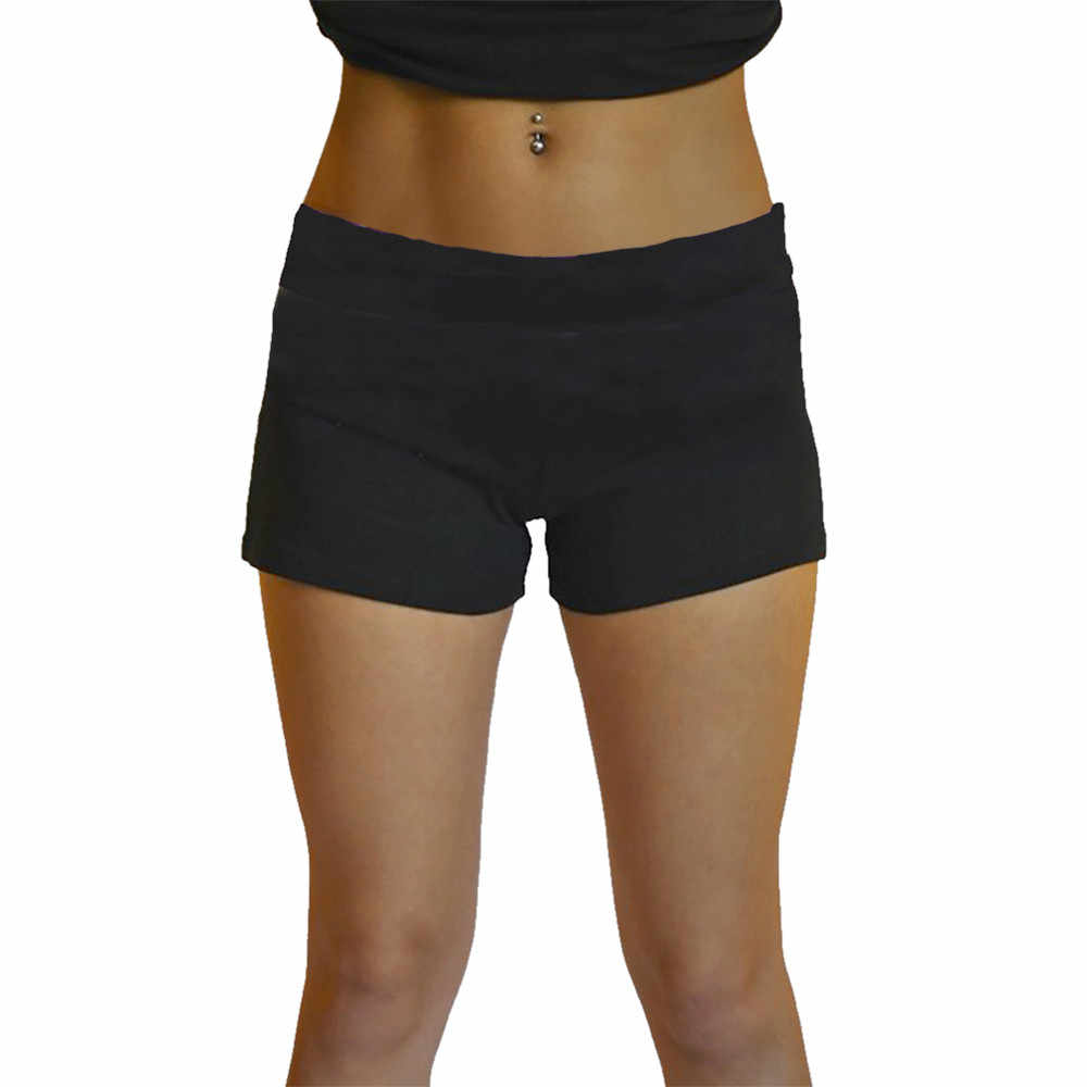 Vrouwen Shorts Gym Workout Tailleband Skinny Yoga Hoge Taille Shorts Workout Shorts 2019 Nieuwe Collectie # XTJ
