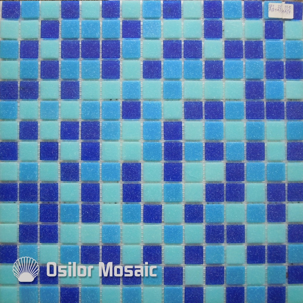 Free shipping blue glass mosaic tile swimming swimming pool mosaic ...