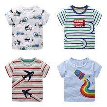VIDMID/футболка для мальчиков футболки с короткими рукавами, топы, одежда Детские От 2 до 7 лет футболки хлопковая Футболка с принтом «Тачки» и «Трактор» Детская одежда с рисунком динозавра