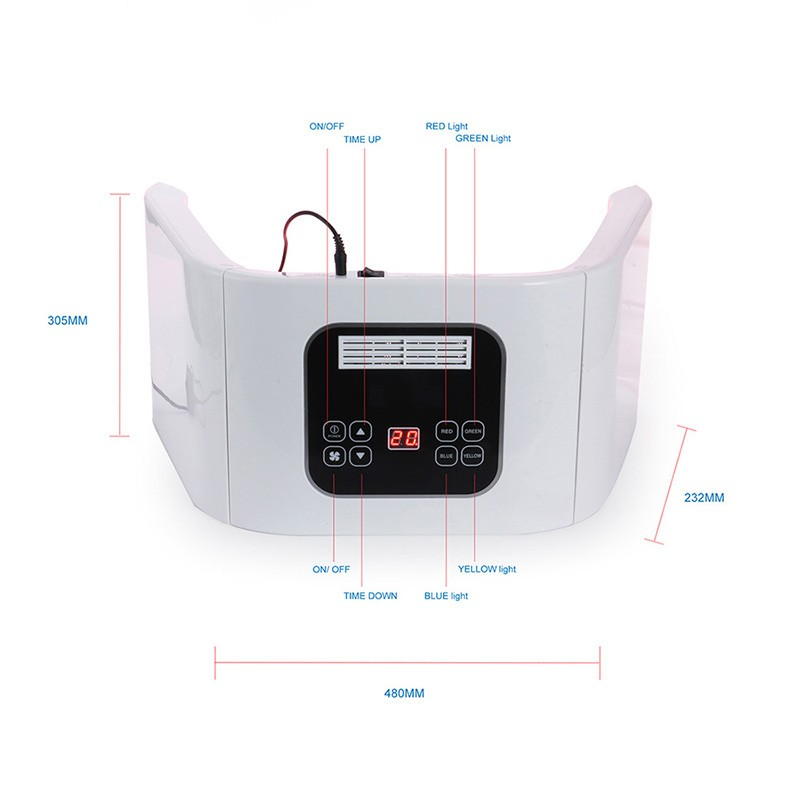 White ABS Meterail LED Lights Smd Led PDT Machine Photon Light Therapy For Face And Body