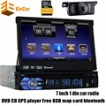 1Din Carro DVD Player de rádio Do Carro de Navegação GPS In-dash GPS Navigator único 1din AutoRadio Áudio Estéreo cobertura de volante + câmera livre