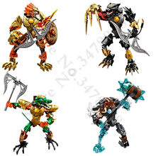 Bionicle Chimo Robot Building Block Toys gifts Action Figure Compatible With Lego Chimaed Mungus(China)