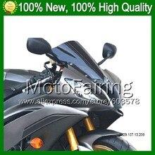 Dark Smoke Windshield For KAWASAKI NINJA ZZR-1400 ZZR 1400 ZZR1400 2006 2007 2008 2009 2010 2011 Q43 BLK Windscreen Screen